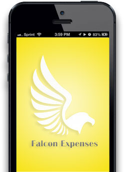 Falcon Expenses iphone app screen 1