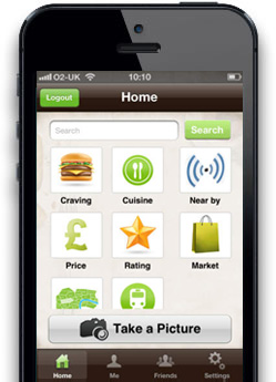 Menu Spring iPhone App Screen 1