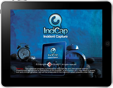 InciCap iPad App Screen