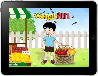 WeighFun iPad App Screen